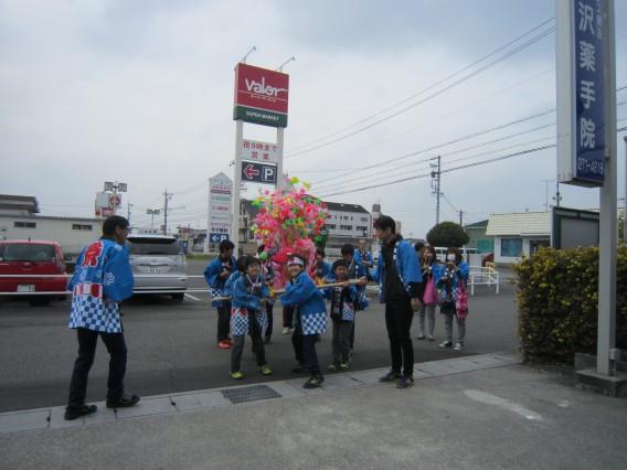 岐阜祭り、茜部もみこしでました。